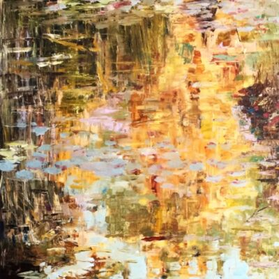 """So Much Reflected There Oil 24""""x24"""""""