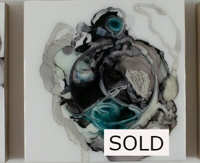 """SOLD The Wonderers Series (triptych) Mixed Media on gallery depth wood panel 12""""x12"""""""