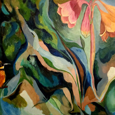 """Image of my garden Oil on Canvas 24""""x36"""""""