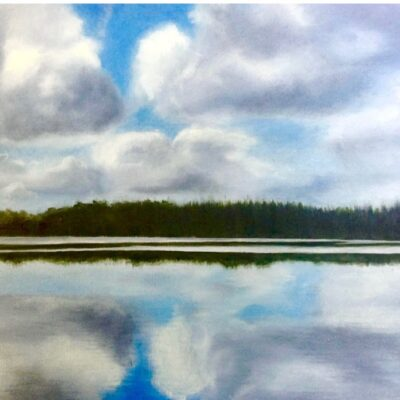 """Reflections Oil on canvas 12""""x24"""""""