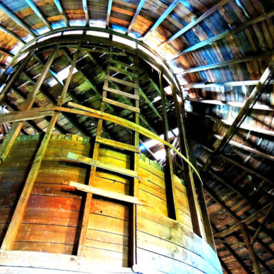 "Silo in Round Barn Photography 29""x23"""