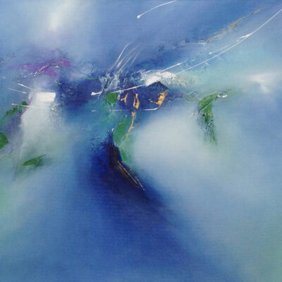 """Million Miles of Blue Mixed 24""""x36"""""""