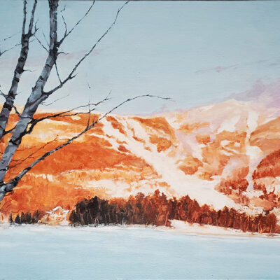"""Clouds of Snow Oil on Canvas 16""""x25"""""""