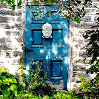 "The Blue Door Photography on Metal 19""x20"""