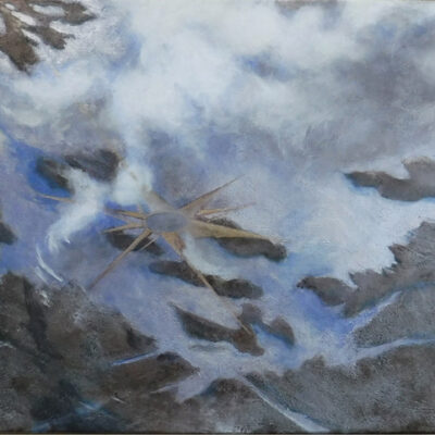 """Plane View, North acrylic on stretched canvas 16""""x16x3/4"""""""