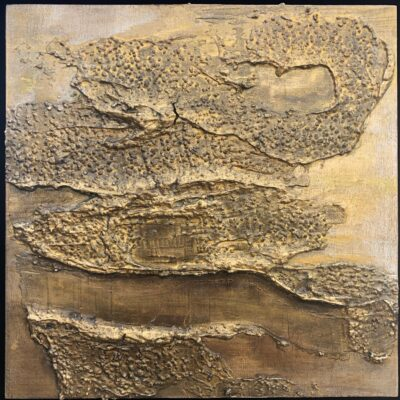 """Fly Out of My Mind Mixed Media on gallery depth wood panel 8""""x8"""" framed"""